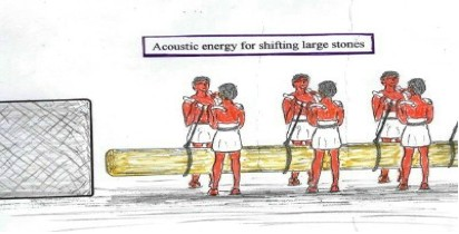 Acoustic energy for shifting large stones